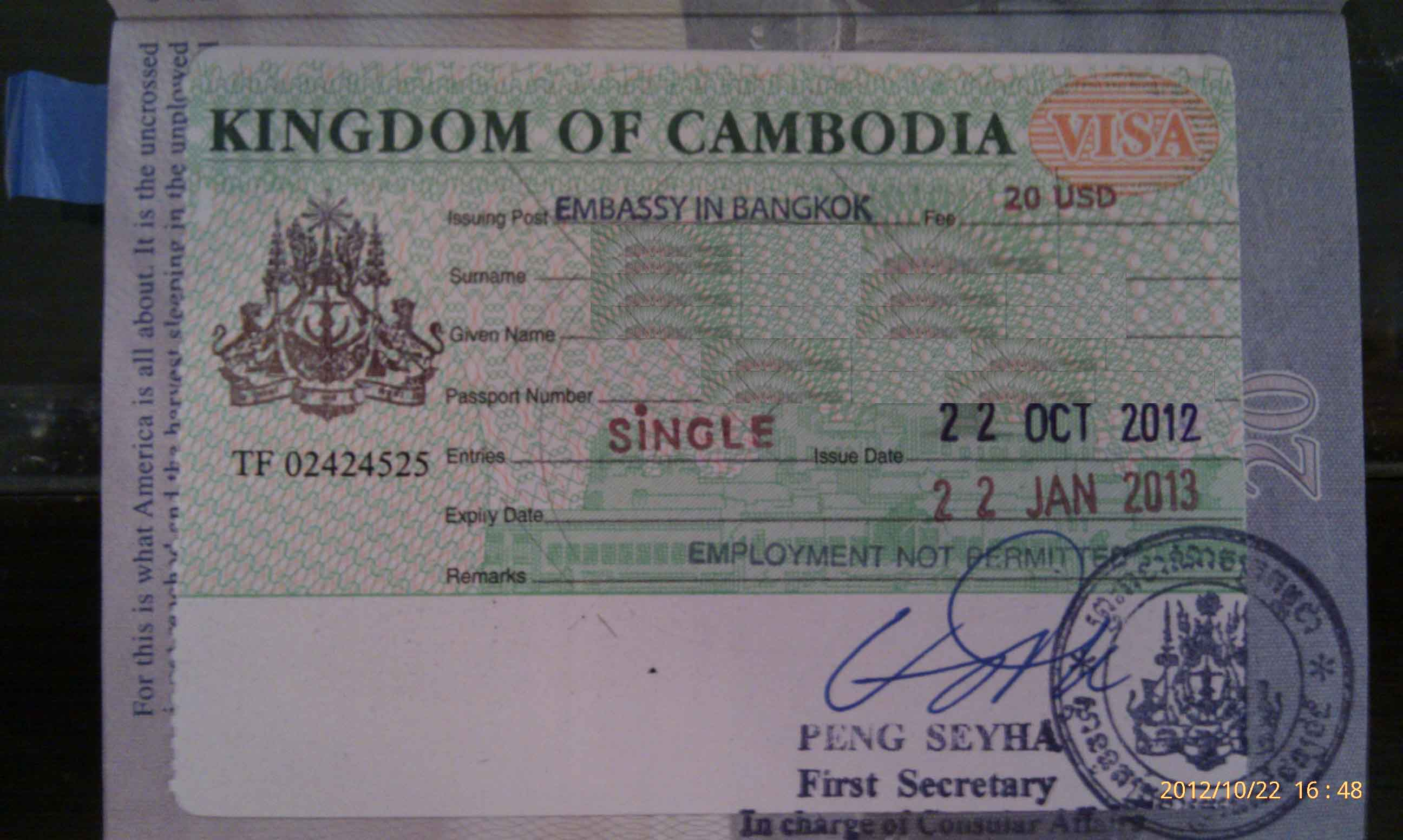 Cambodian Embassy Bkkbusiness - Cambodia visa for us citizens dc embassy map